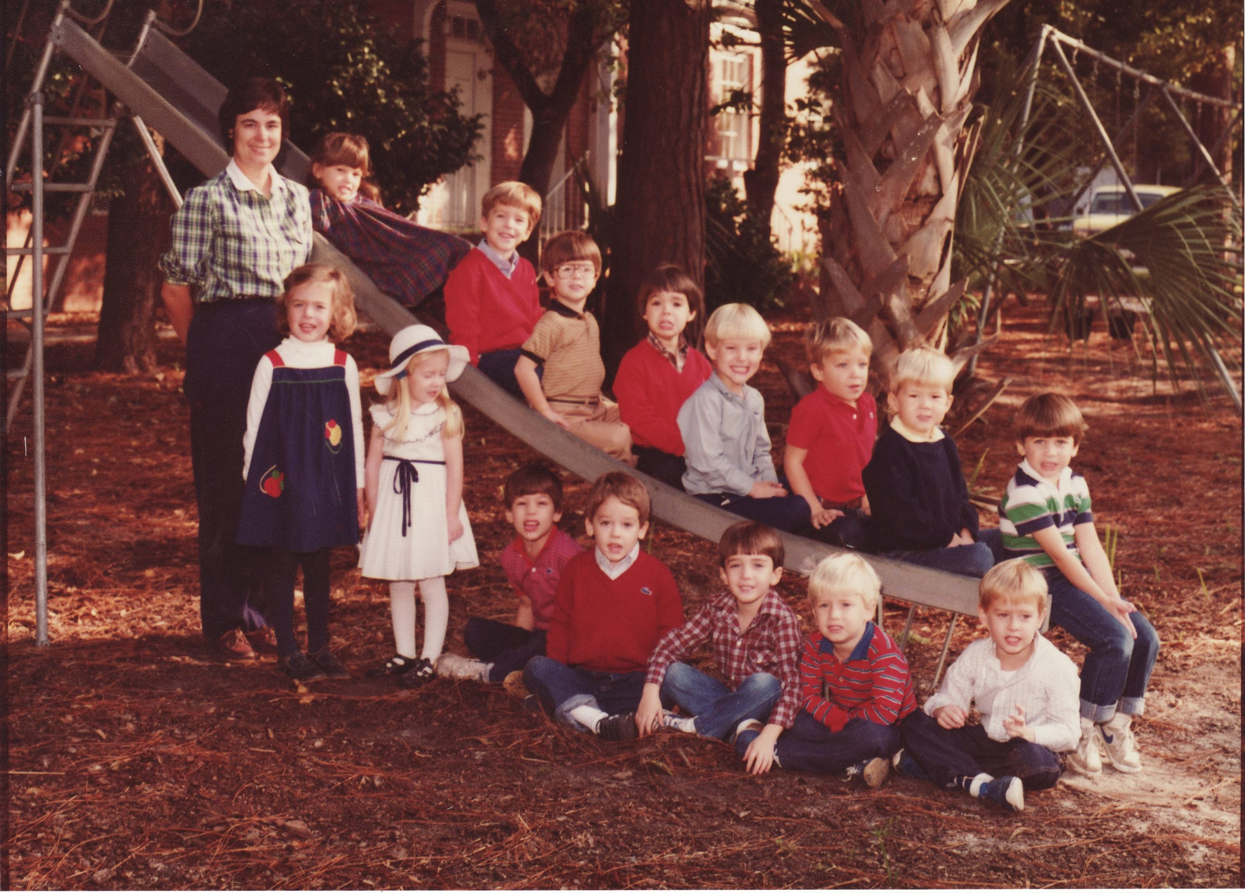 Marlin Ferrell's 4-Year Old Preschool Class, Fall 1983